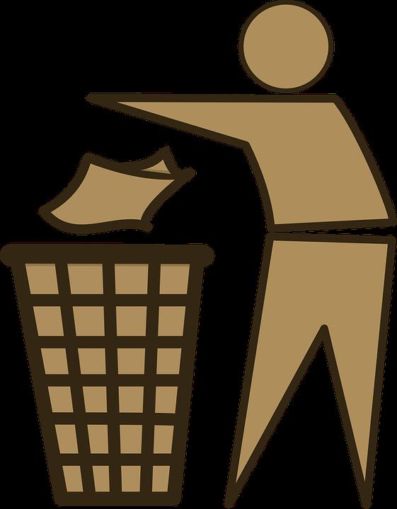Plastikowe kosze na śmieci